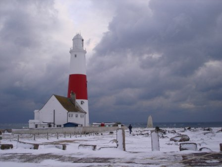 Portland Bill in the snow